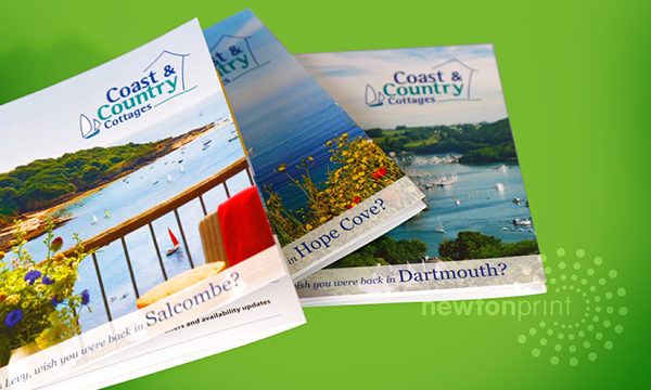 Bespoke holiday cottage direct mail printing with Newton Print