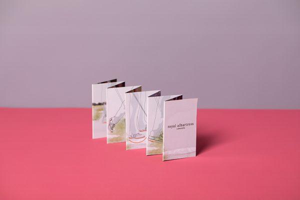 Colour mini concertina folded leaflet printing
