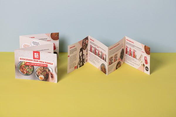 Mini Concertina folded colour leaflet printing