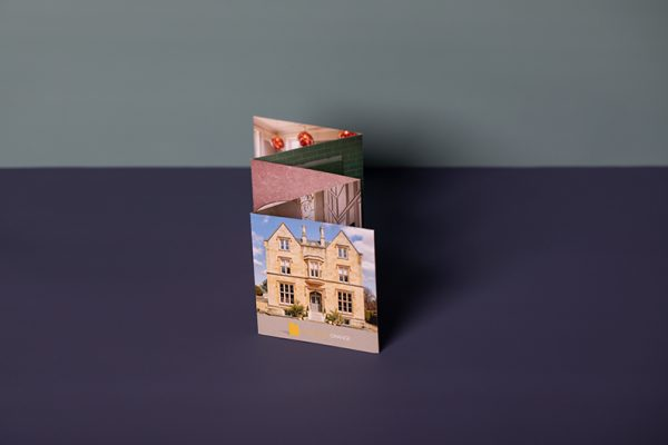 Mini concertina folded leaflet printing