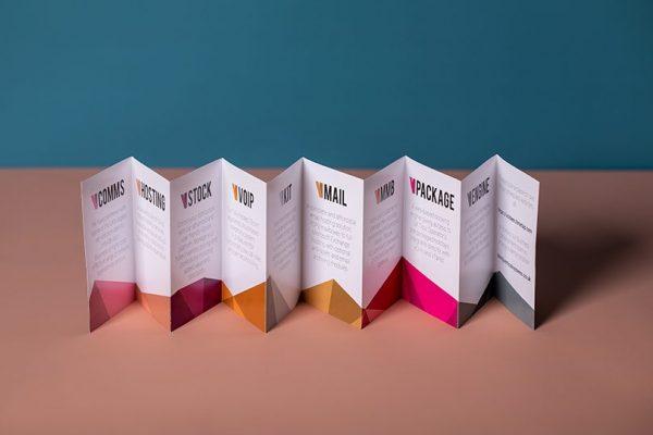 Colour mini concertina fold leaflets