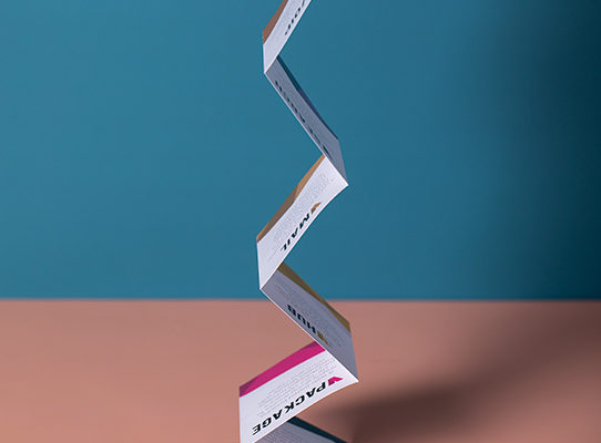 Mini concertina fold leaflets