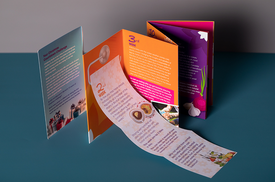 Bio-cult mini concertina fold leaflet