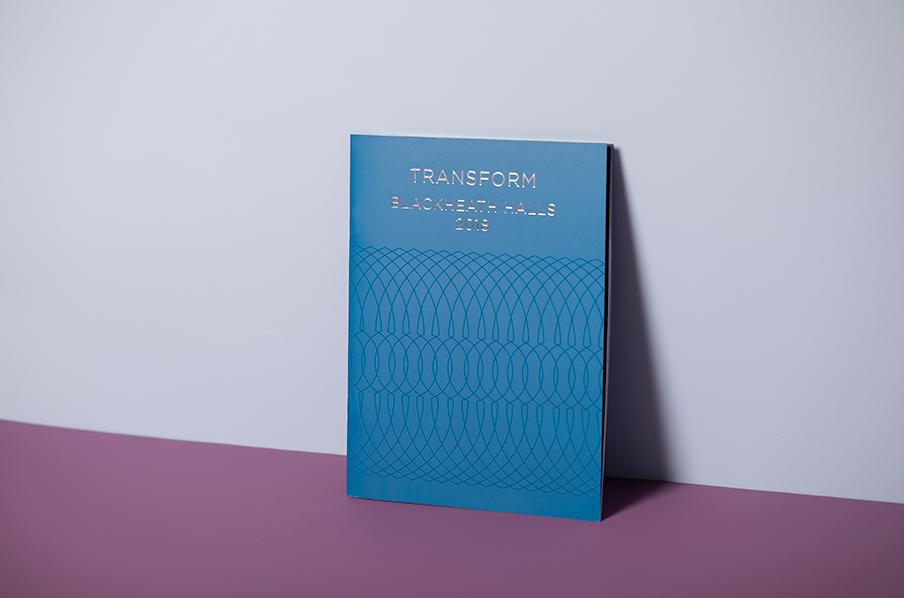 Blackheath brochure with spot gloss UV varnish