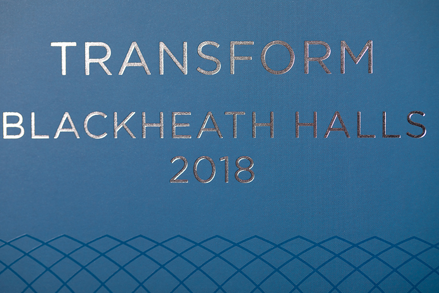 Blackheath brochure with silver foil block