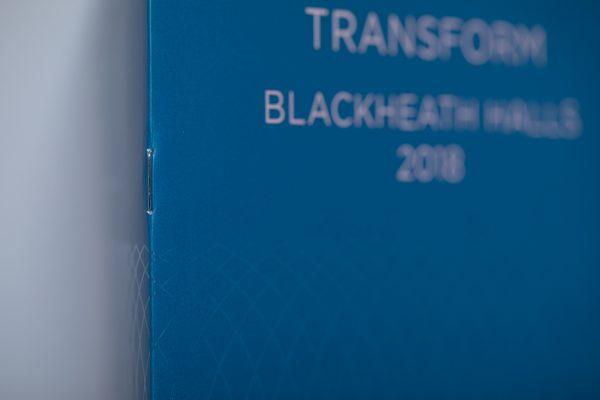 Blackheath Halls brochure stitched