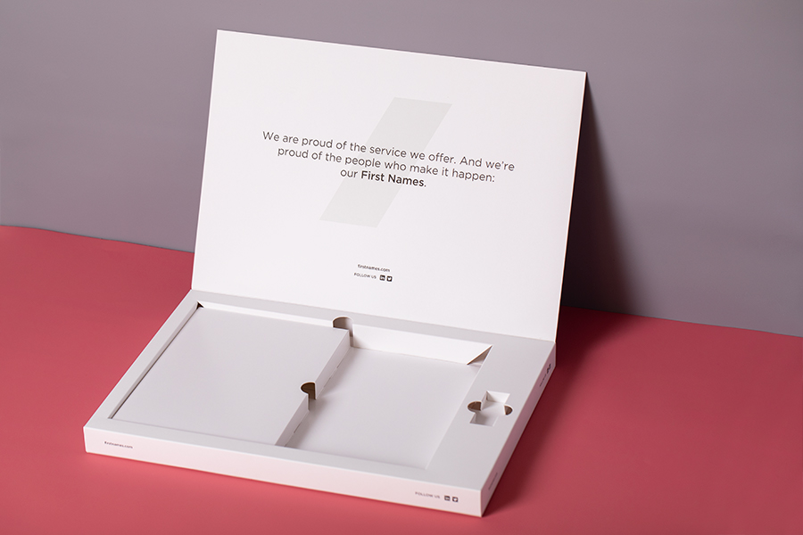 Custom Brochure Box Printing - Open Box