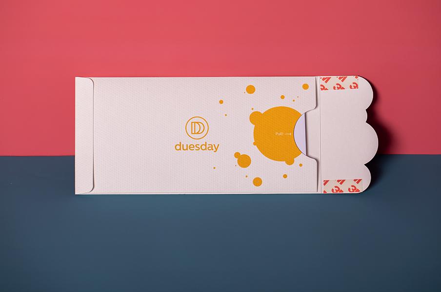 Custom die cut printing for Duesday wallet