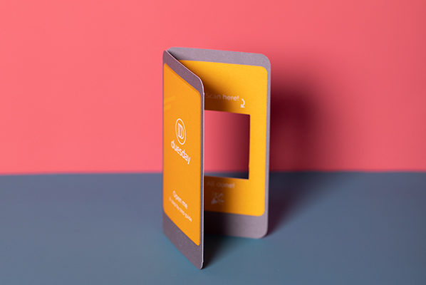 Duesday POTM die-cut embossed direct mail wallet