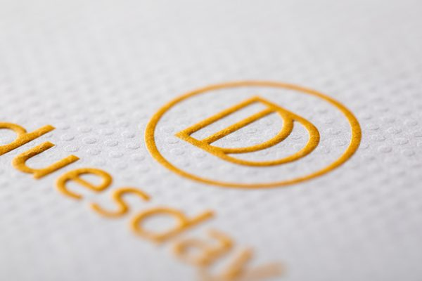 Embossing printing services with Newton Print