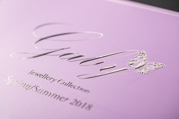 Silver Hot Foil Printing and Embossing