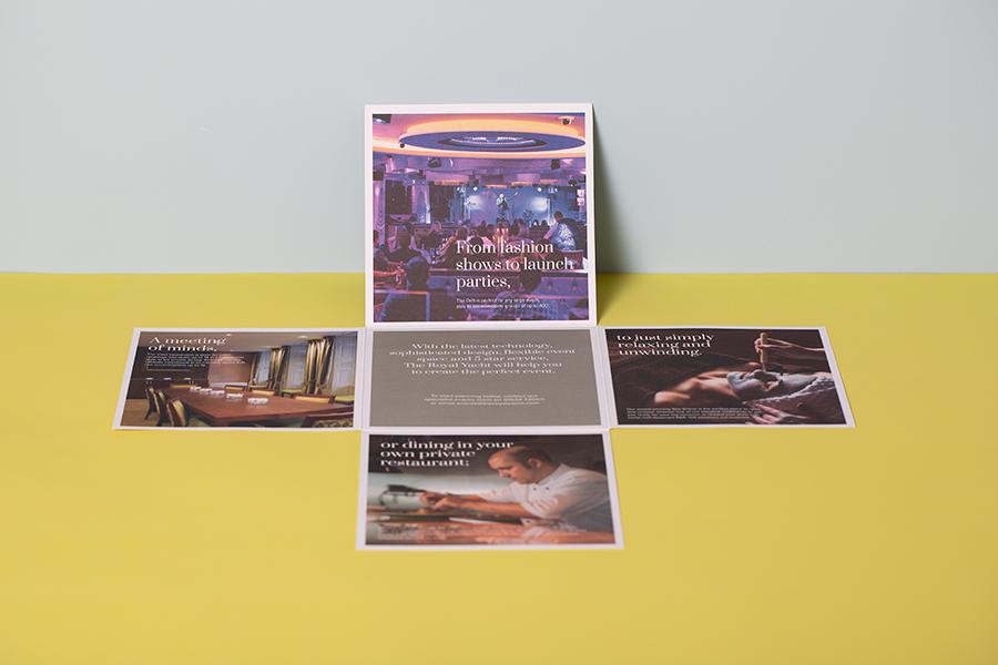 Die Cut Direct Mail Maltese Cross Unique Folding Brochure Design