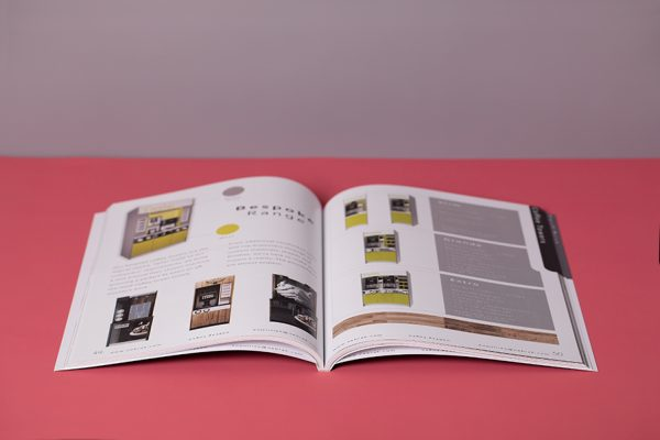 PUR perfect binding - open brochure