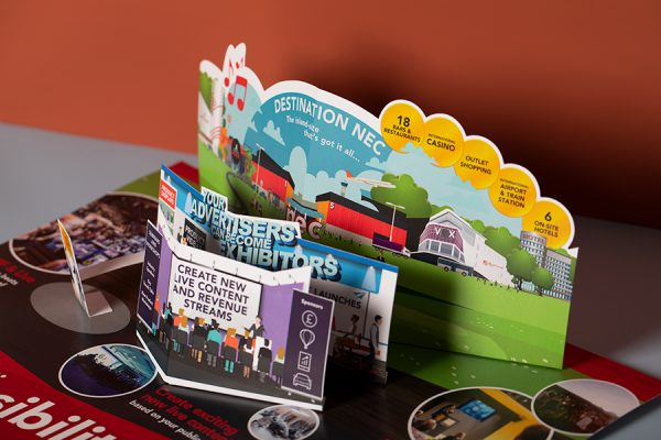Die Cut NEC Pop Up Mailer