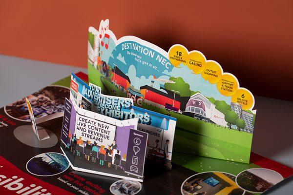 Custom Die Cut NEC Pop Up Mailer Printing