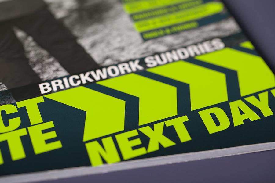 Spot colour pantone printing on brochures