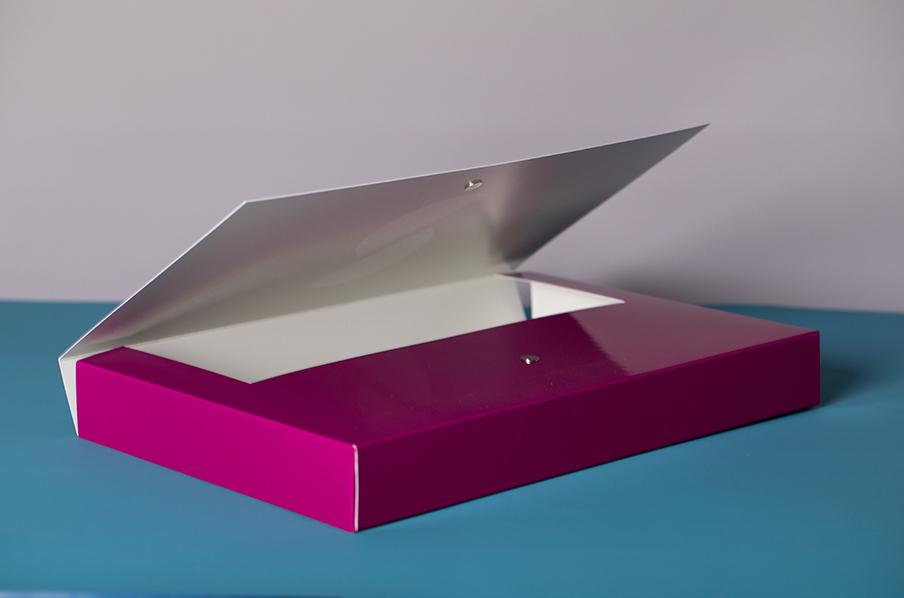 Stephen Scown die cut brochure box printing