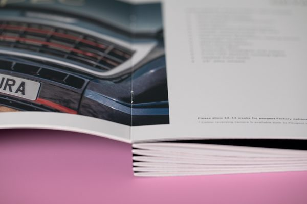 Saddle stitch binding - stapled brochures
