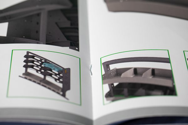 Saddle stitched brochure printing