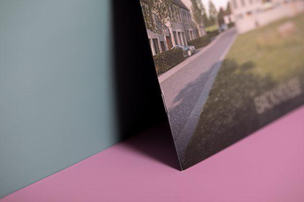 landscape brochure stitch binding