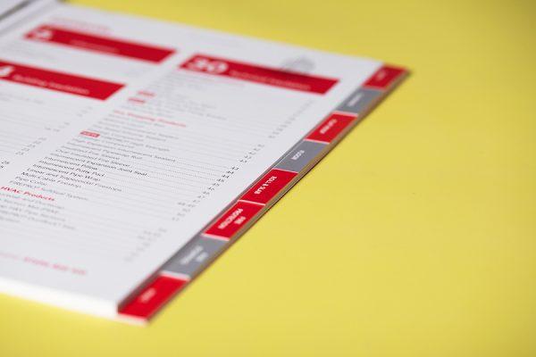 Custom Index Tabbing for Brochures