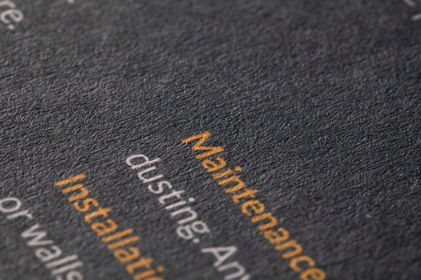 V-Tec textured brochure printing