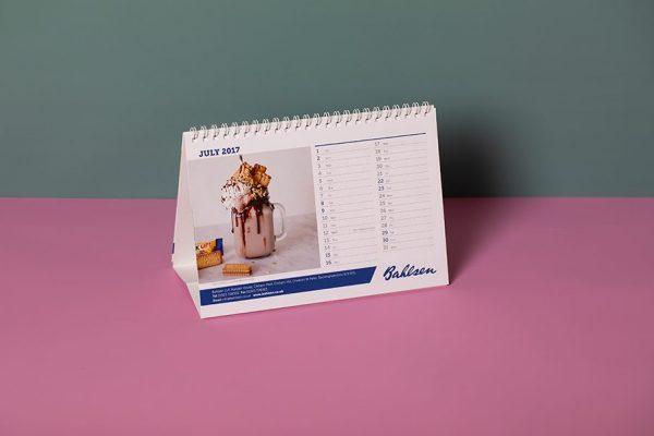 Wiro Bound Desk Calendar Printing