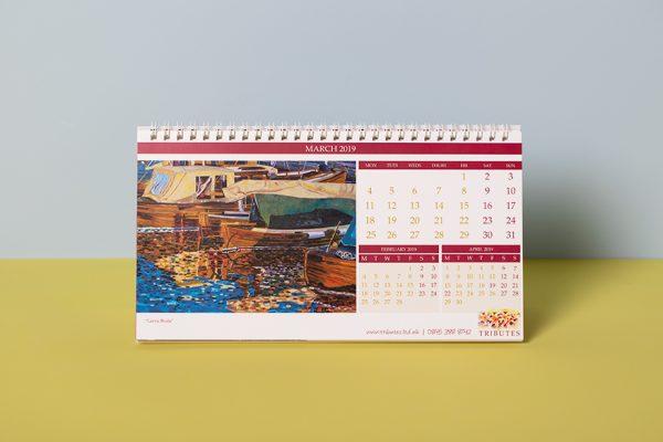 Custom desktop calendar printing