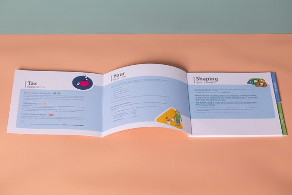 Microsoft index tabbed brochure printing