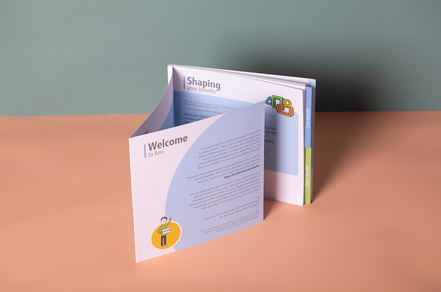 Microsoft brochure with perfect bound spine