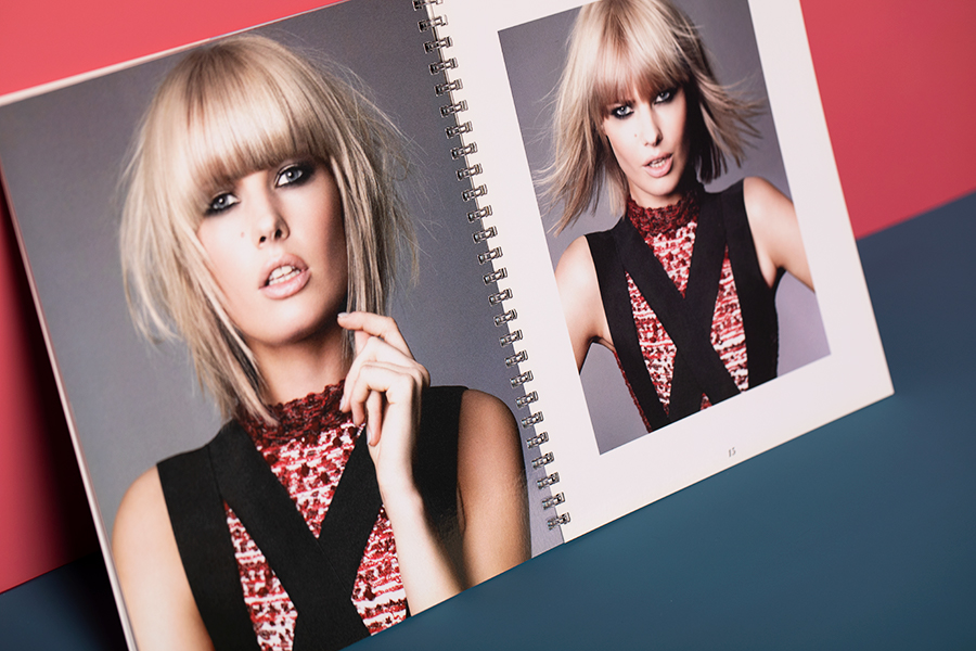 lithographic printed L'Oreal look book