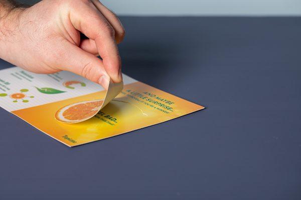 Custom Peel and Reveal Card Printing