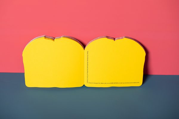Die cut sandwich notepad