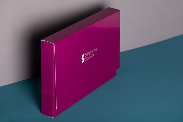 Branded brochure presentation folder