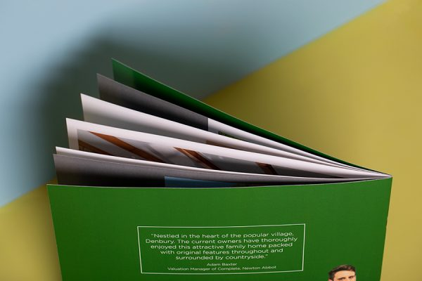 Stitched A4 landscape booklet printing for estate agents
