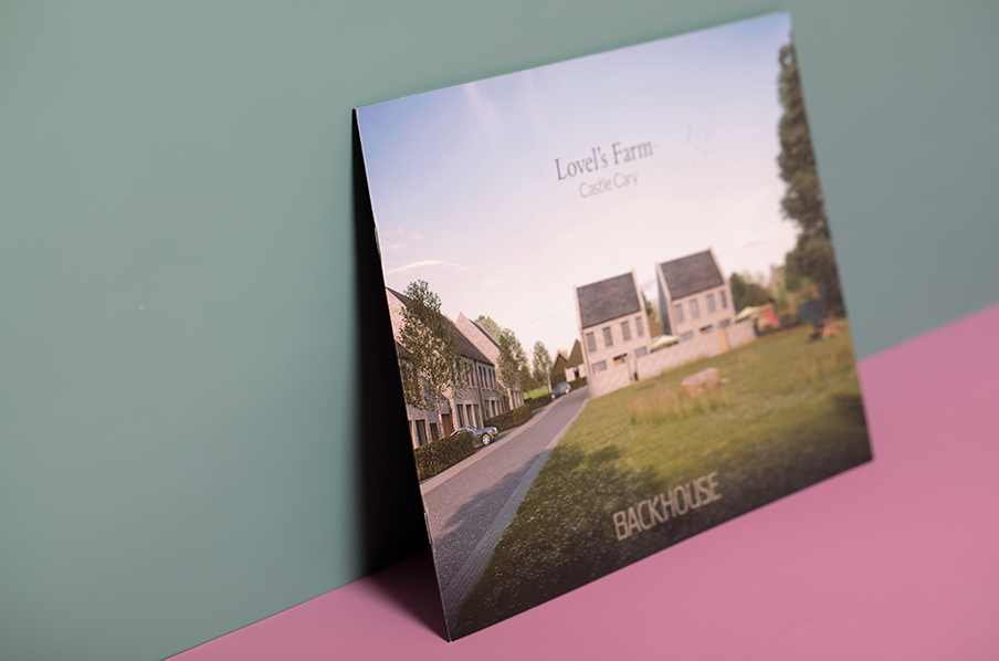 A4 Landscape Property Brochure with Pocket and Lamination
