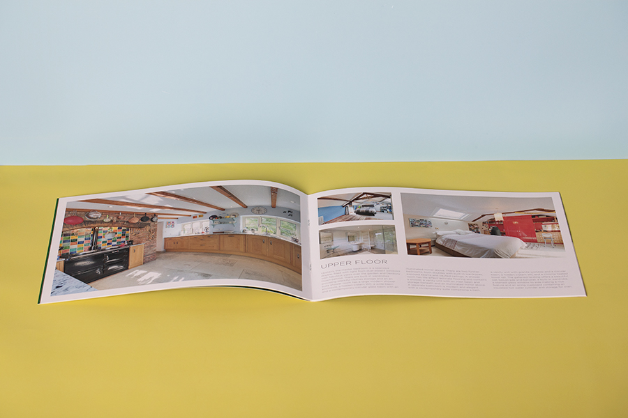 Stitched landscape digital estate agent brochure printing and booklet printing
