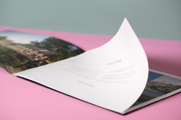 Stitched property A4 landscape brochure printing