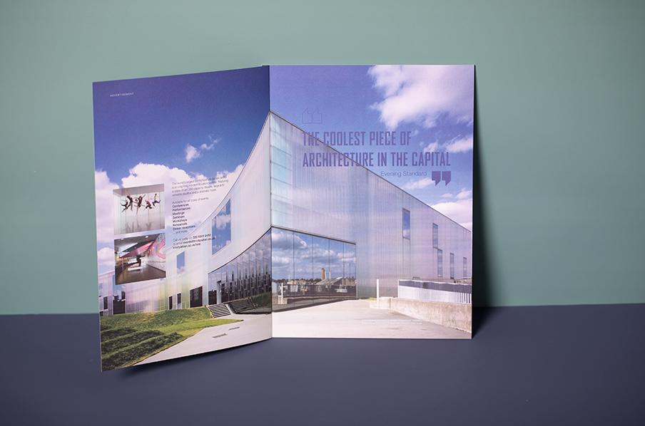 Trinity Laban award-winning perfect bound uncoated brochure