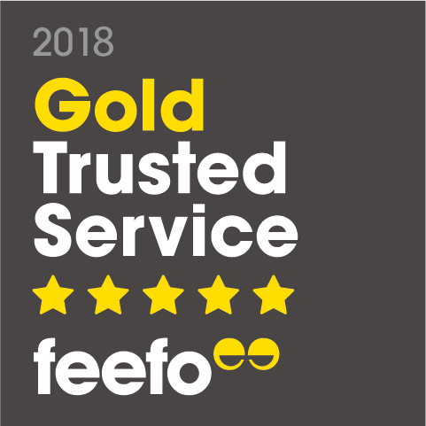 Feefo Gold trusted service for printing 2018