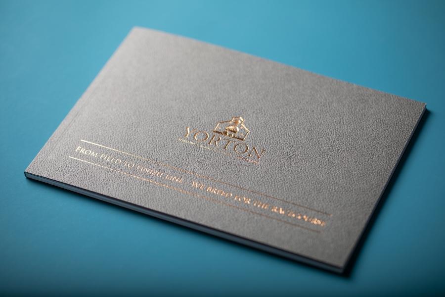 Yorton perfect bound brochure printing