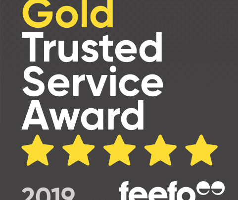 Gold Feefo trusted service award for Newton Print