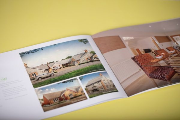 Property Development Marketing Brochure with Pocket, Spot UV varnish and Pantone Spot Colour