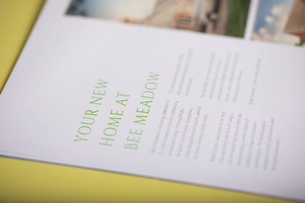 Baker Estates Property Development Homes Brochure with Pocket and Spot UV