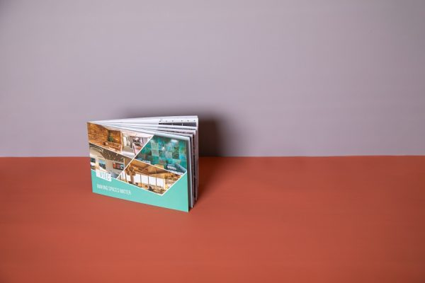 Soft Touch Interior Design Brochure with short-edge saddle-stitched spine by Newton Print