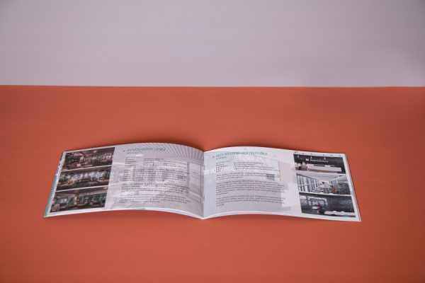 Interior Design Soft Touch Laminated Brochure with saddle stitched spine by Newton Print