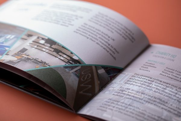 Interior Design Soft Touch Brochure Printing by Newton Print