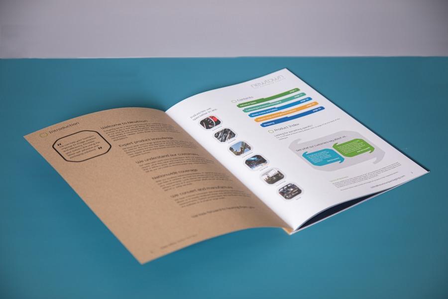 Yogi perfect bound brochure look book