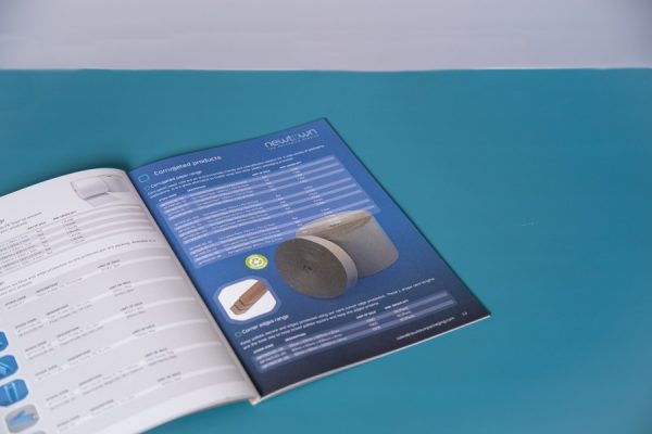 Packaging Brochure Printing with Kraft Uncoated Paper Cover