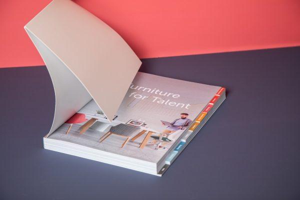Spacestor brochure with tabs